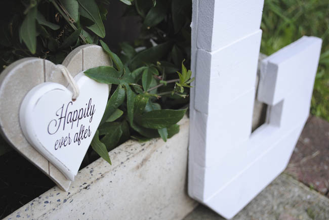 happily ever after letter decorating the house