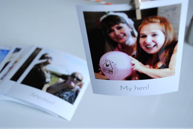 my hen photos polaroid style retro cheerz