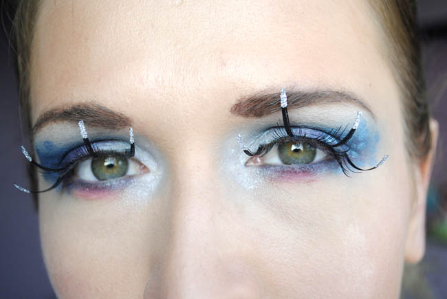 how to do alien makeup blue and pink mistique