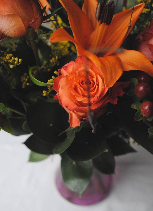 woodland flower bouquet photography