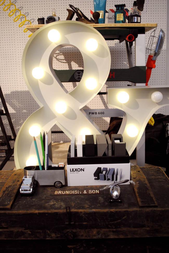 ampersand figure decor lights xmas john lewis