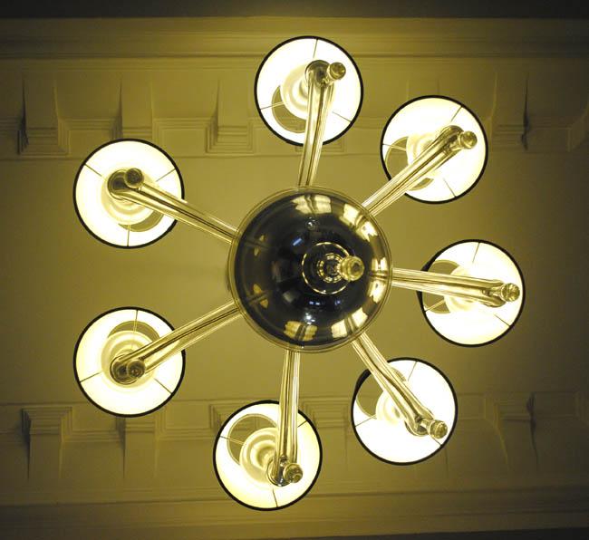 chandelier in thistle hotel kingsley