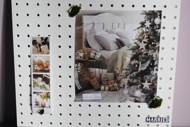 christmas home idea pegboard