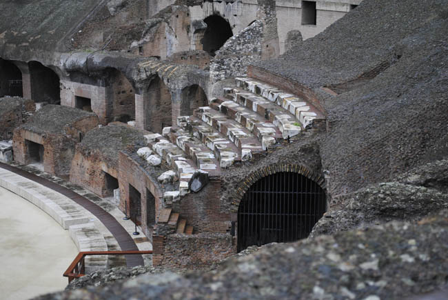 inside the coleseum italy rome seat gladiator home