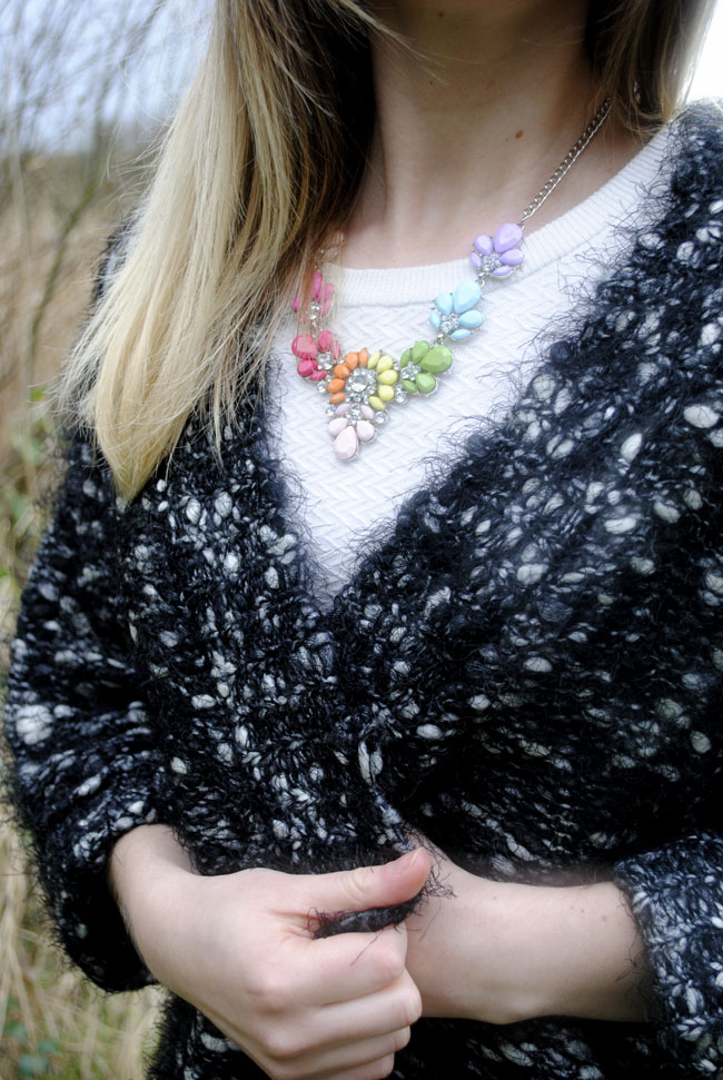 necklace and knitwear lifestyle blog uk