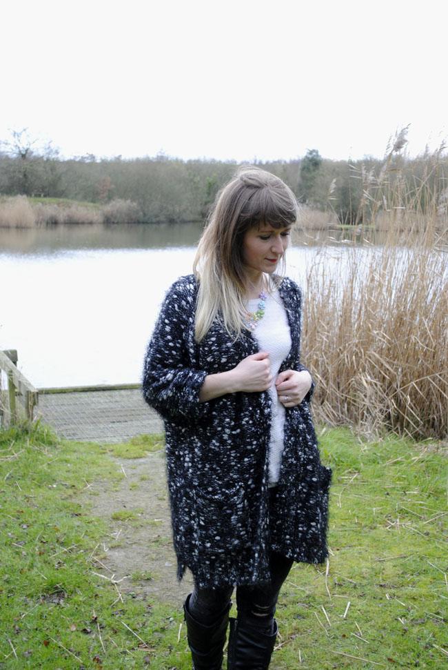 outerwear styling outfit knitwear idea