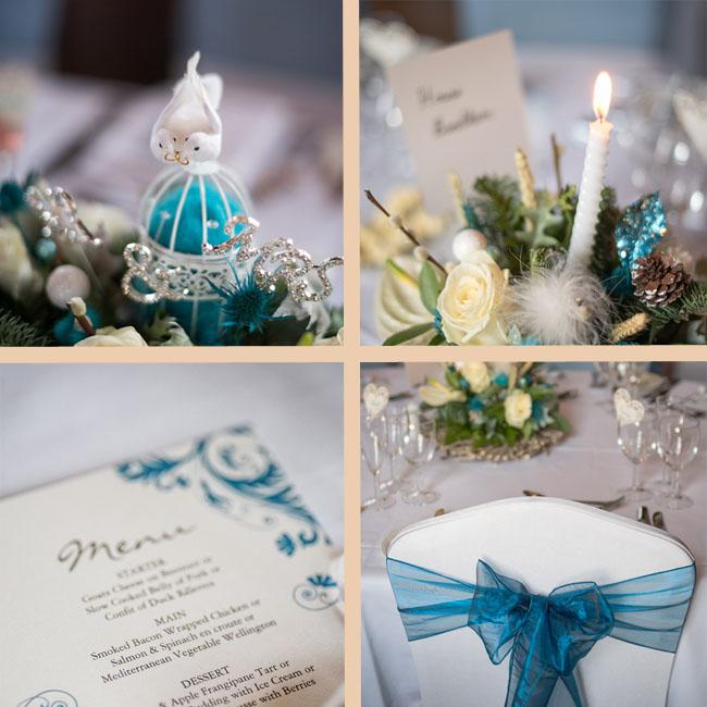 lympne castle blue teal wedding decoration winter ideas blog