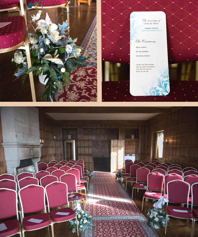 lympne castle ceremony room and wedding programs uk blog kent essex london