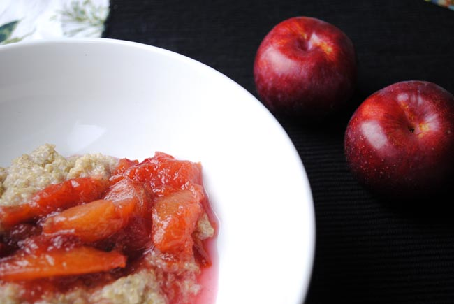plum and quinoa seed breakfast recipe