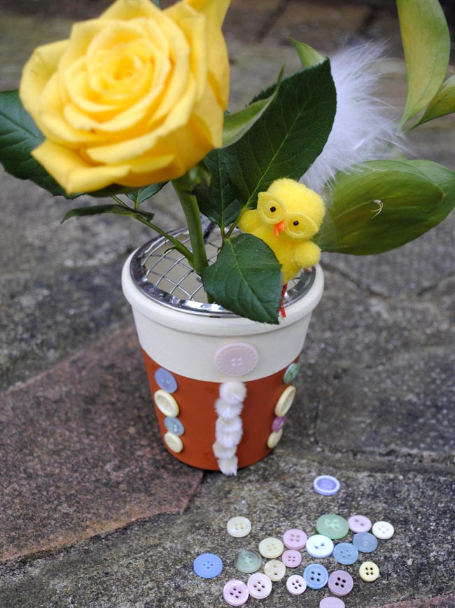 easter craft ideas for garden flower plant pots