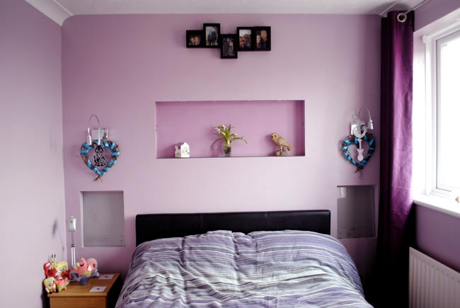 purple bedroom idea violet before and after home photos