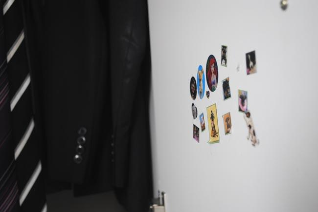 stickers in the bedroom wardrobe