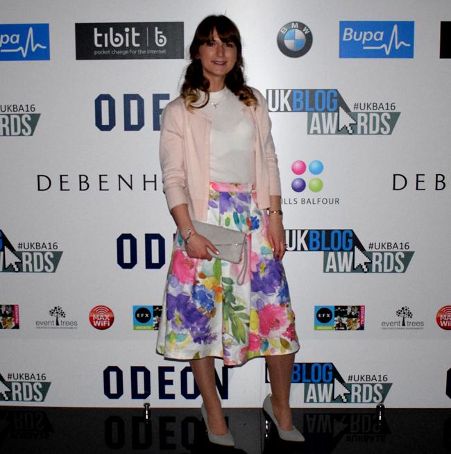 Alina Ghost uk blog awards lifestyle judge