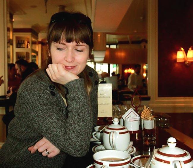 Sacher hotel cake and tea alina ghost