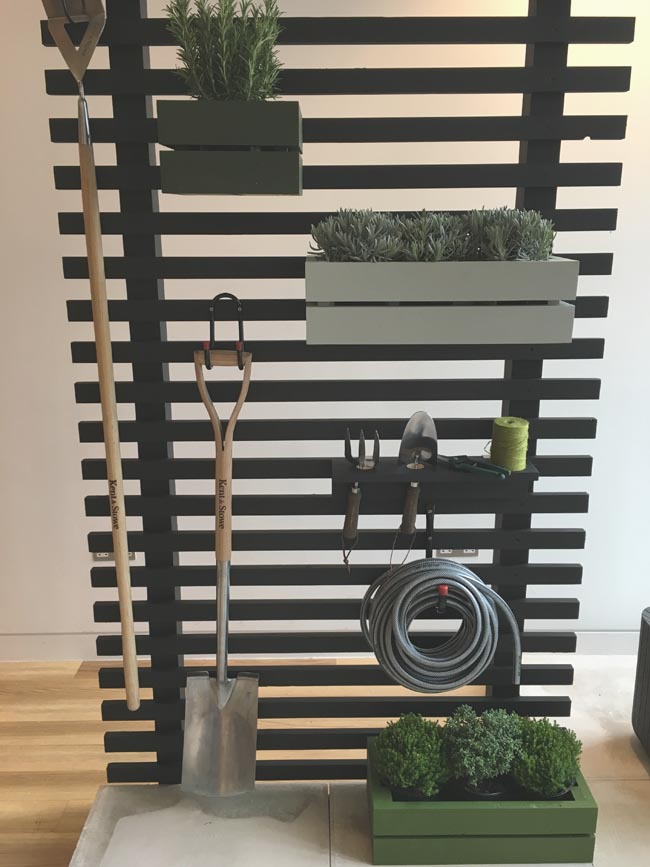 black DIY trellis from B&Q press event
