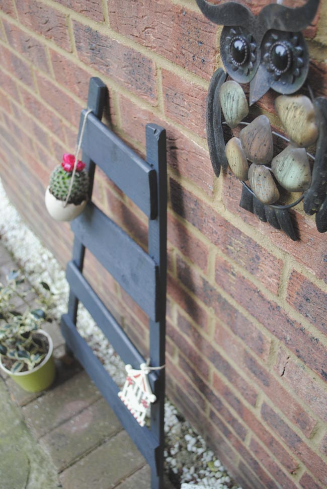 black ladder for outdoors garden ideas on a budget