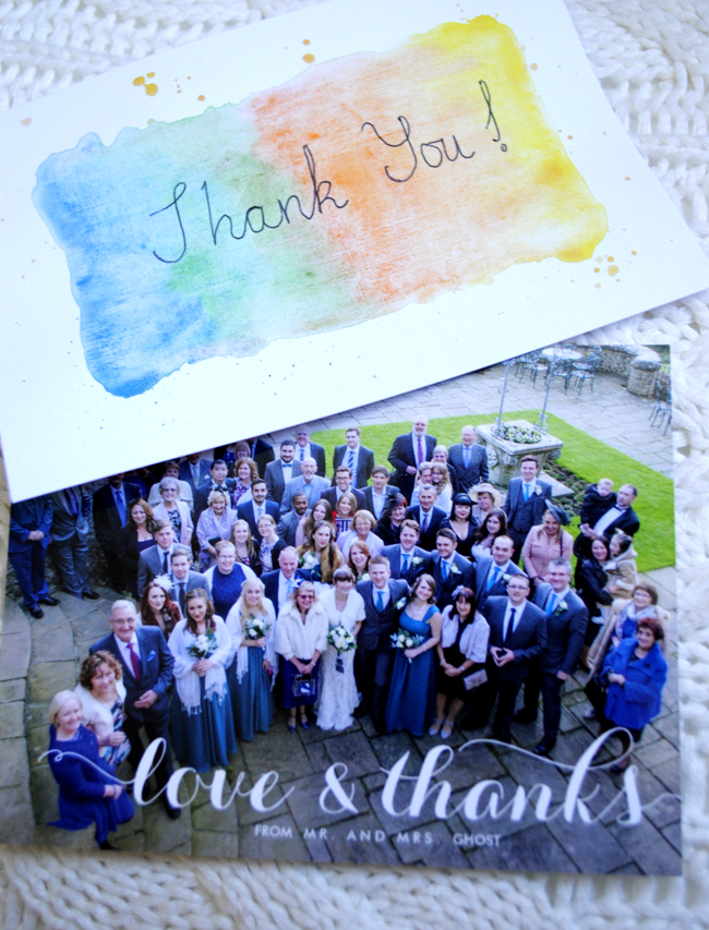 thank you cards for wedding guests DIY and zazzle personalised cards