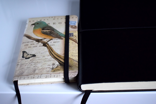 vintage bird notebook