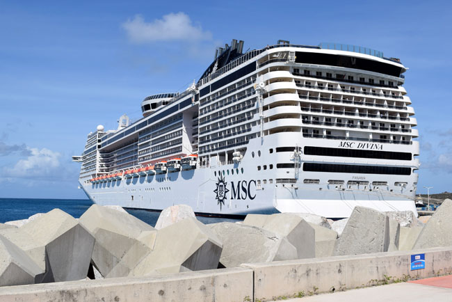 MSC divina caribbean cruise sea ship boat
