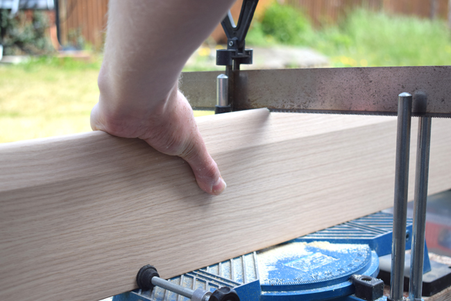 sawing the skirting board from skirting board shop
