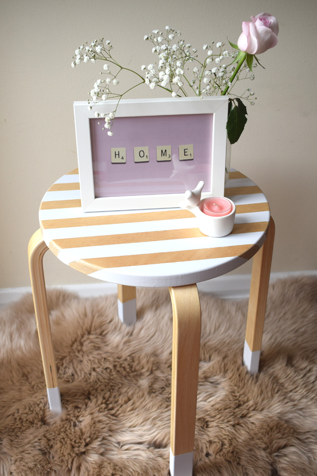 DIY easy to upcycle table from ikea
