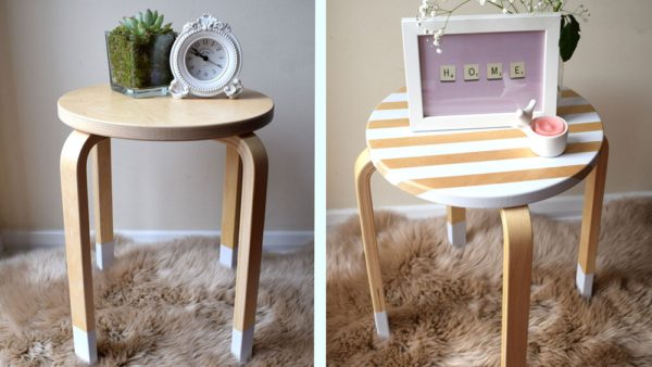 DIY upcycle modernise wooden cheap table