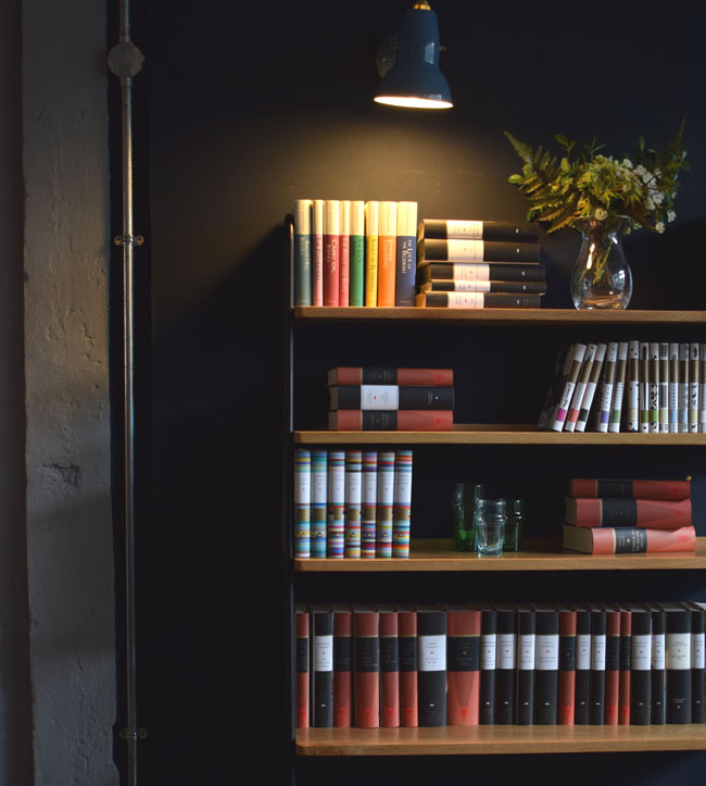 heals bookshelf and everyman library books