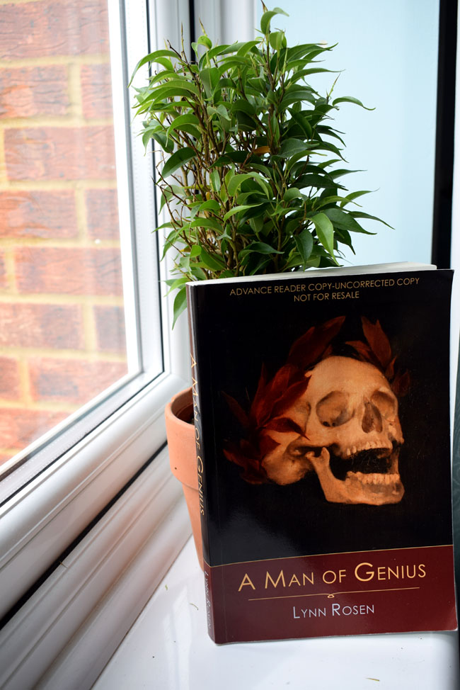 murder mystery book man of genius