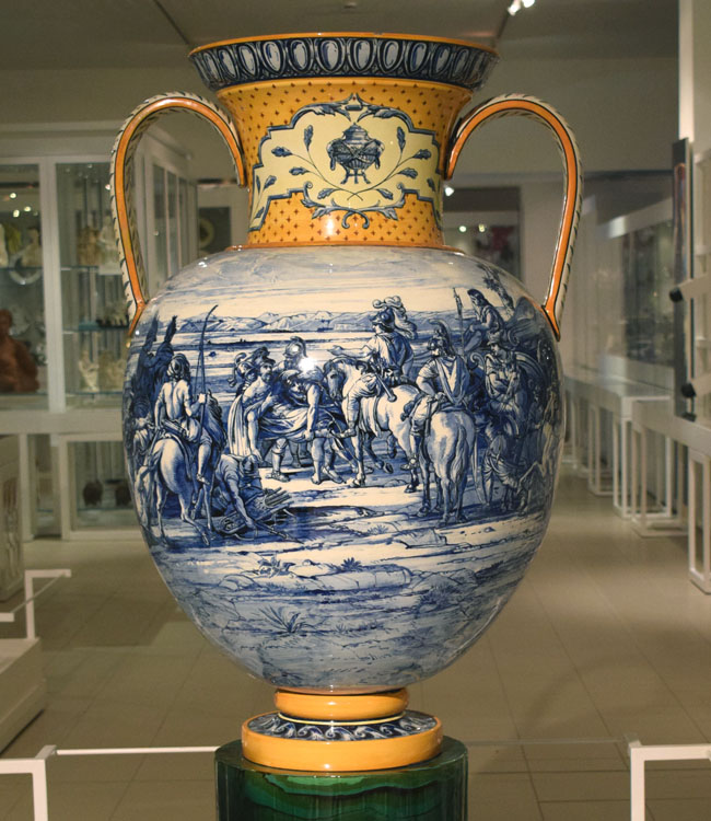 wedgwood vase with decoration