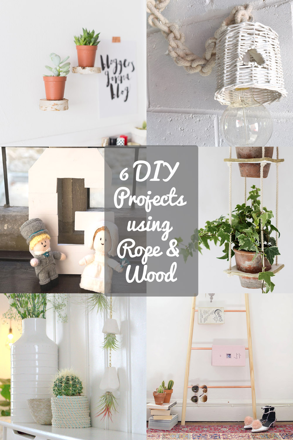 6 DIY project ideas using rope and wood