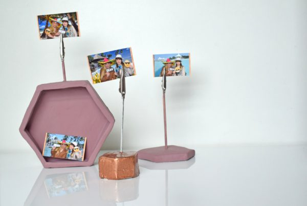 DIY photo holders air drying clay blog crafts
