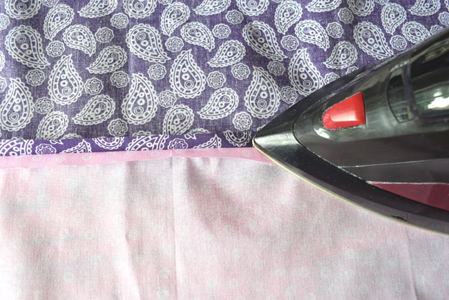 ironing flat seam after sewing line