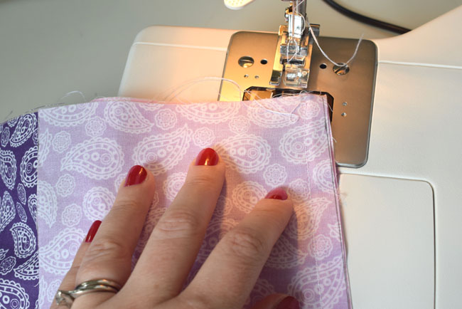 sewing machine line fabric