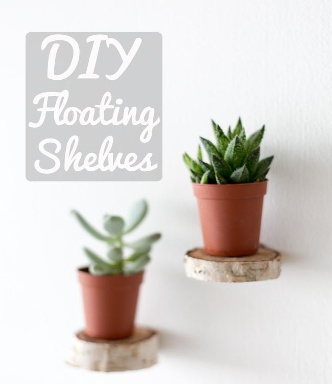 wooden floating mini shelves tutorial