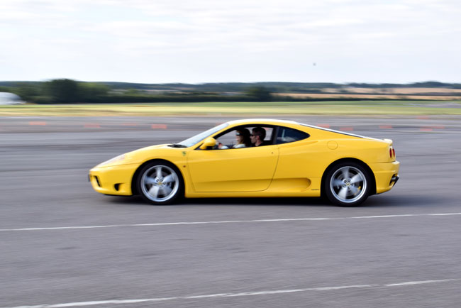 ferrari driving experience yellow car photography shot
