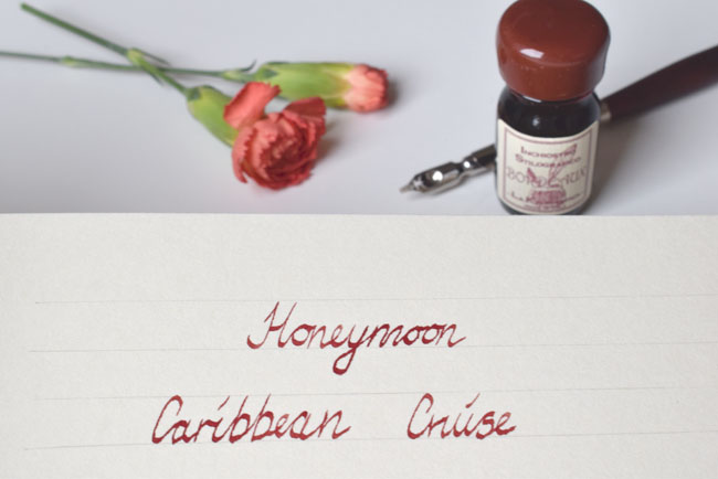 honeymoon calligraphy font writing pen and ink