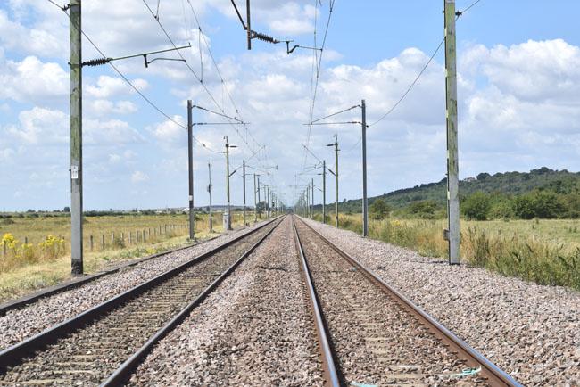 train tracks for national rail c2c train by alina ghost