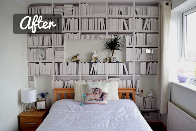 white bedroom before and after photos makeover