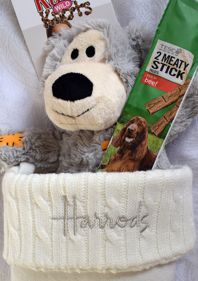 harrods-white-stocking-with-dog-treats