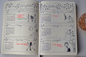 My First Bullet Journal Inspired by Fairytales with Images and Video